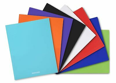 Poly Pocket Folders 8 Pack - Assorted Colors