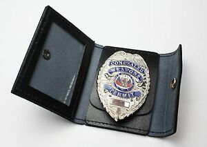 New Rothco Black Leather Police Security Concealed Carry Badge/ ID Holder Wallet