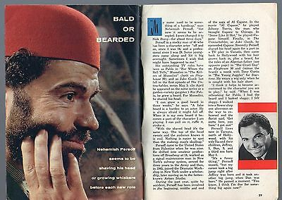 1960 TV ARTICLE~NEHEMIAH PERSOFF BORN 1919~Racketeer BOSS in LITTLE BONAPARTE