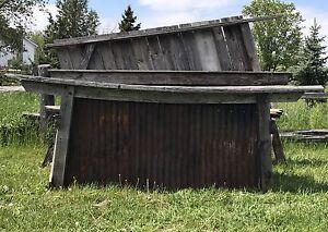 Barnboard barn board bar rustic wedding