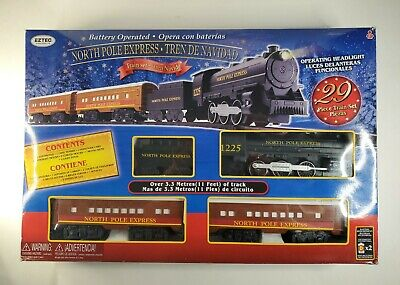 EzTec North Pole Express Christmas Train Set Battery Operated