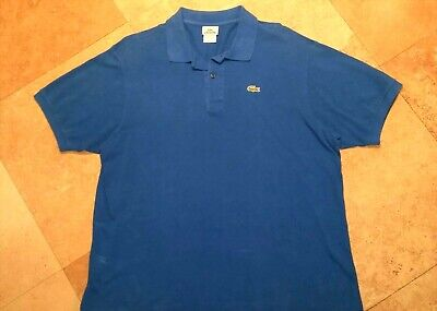 Lacoste Short Sleeve Polo Shirt 100% Cotton Blue Size 8