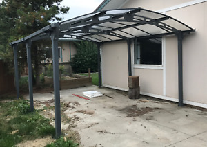 Boat/ATV glass and steel storage shelter