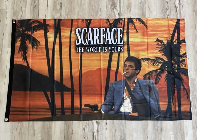 Scarface The World Is Yours 3ftx5ft flag banner Al Pacino Tony Montana art new