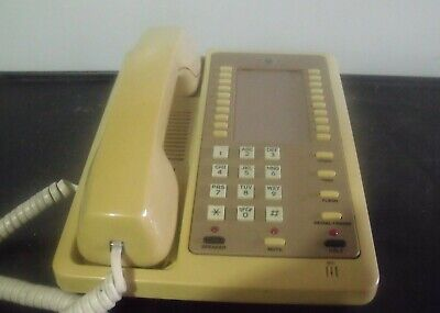 Atc At101m Beige Single Line Analog Multi Feature Business Telephone