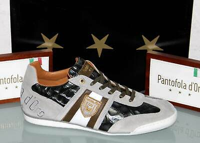 PANTOFOLA D´ORO Leder-Sneaker - IMOLA Scudo Patent Low Olive - Neu&OVP! Patent Leder