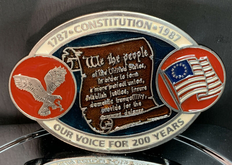 Rare Vintage Constitution Our Voice 200 Years Belt Buckle