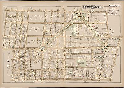 1891 GM HOPKINS BUFFALO NEW YORK BLACK ROCK PASS STATION SQUAW ISLAND ATLAS MAP