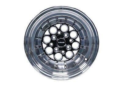 2x Revolver Black Polished Lip Rivets Drag Racing Wheels 13X10 4X100/4X114 ET0