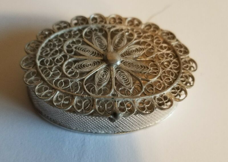 800 Friligree Trinket box vintage very old