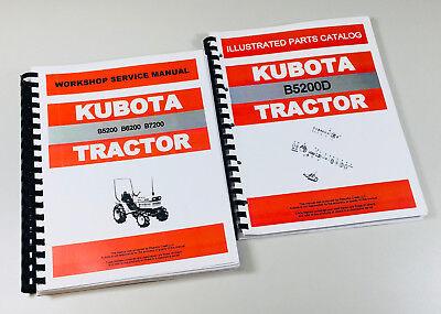 Kubota B5200d 4wd Tractor Service Repair Manual Parts Catalog Shop Set Ovhl
