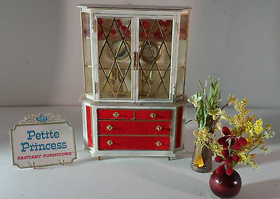 IDEAL PETITE PRINCESS DOLLHOUSE  Treasure Trove Cabinet & Handcrafted Decor