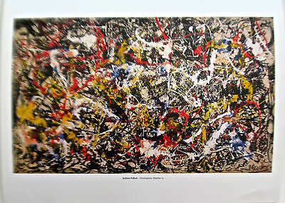 Jackson Pollock Convergence No. 10  Drip Style Poster after Painting 14x11