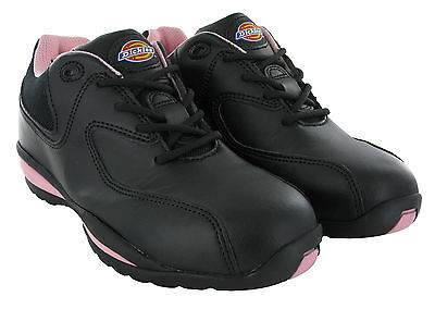 Dickies Ohio Safety Steel Toe Cap Lightweight Womens Trainers Work Shoes UK3-8 Ohio Womens Cap
