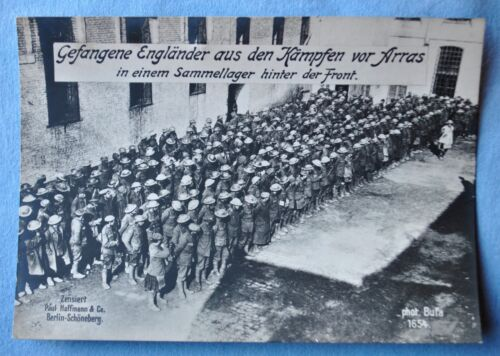WWI German Photo of British Prisoners of War in Collection camp - RPPC