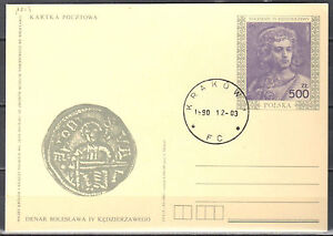 Poland 1990 - Boleslaw IV Kedzierzawy - Fi. Cp 1013 - postcard - used - Cieszyn, Polska - Poland 1990 - Boleslaw IV Kedzierzawy - Fi. Cp 1013 - postcard - used - Cieszyn, Polska