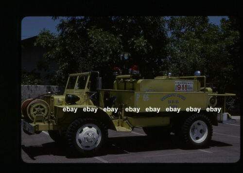 Orange Cove CA 1940s Ex US Army Gamma Goat Brush Truck Fire Apparatus Slide