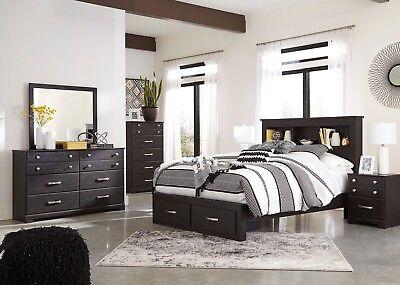 Ashley Furniture Reylow Queen 6 Piece Storage Bookcase Bedroom Set