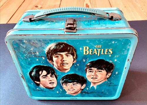 ORIGINAL 1965 THE BEATLES LUNCHBOX RARE MADE IN THE USA BY ALADDIN