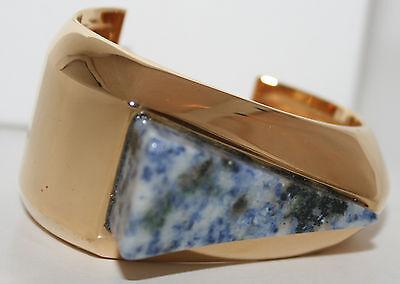 $775 NIB New Chloe BETTINA Fashion Bangle Cuff Bracelet Misty Blue