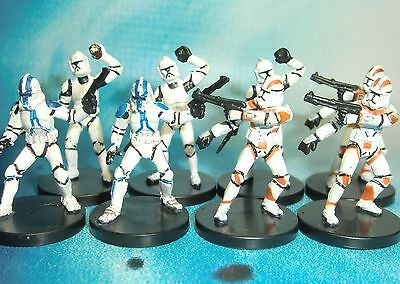 Star Wars Miniatures Lot  Clone Trooper Clone Trooper Grenadier !!  s97