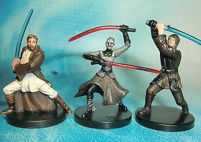 Star Wars Miniatures Lot  Asajj Ventress Anakin Skywalker Kenobi !!  s97