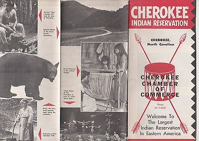 CHEROKEE INDIAN RESERVATION BROCHURE,CHEROKEE,N.C.-1955?