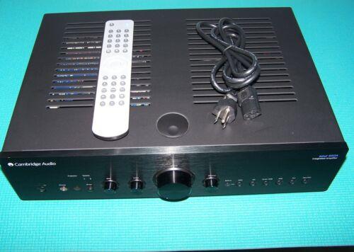 CAMBRIDGE AUDIO AZUR 650A-Stereo Integrated Amplifier; RARE Black with Remote