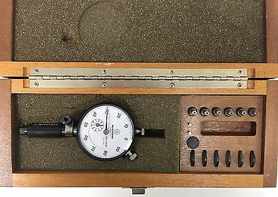 Mitutoyo 526-371 Dial Bore Gage Set .0185-.0380 Range .001 Graduation