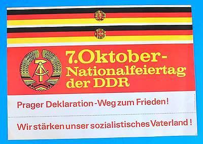 DDR Plakat Poster 1151 | 7. Oktober 1983 Nationalfeiertag | 81 x 57 cm Original