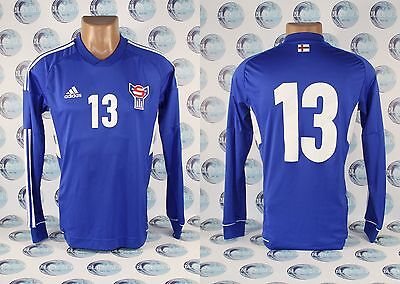 FAROE ISLANDS NATIONAL TEAM 2012 2014 PLAYER ISSUE FOOTBALL SOCCER SHIRT JERSEY  image
