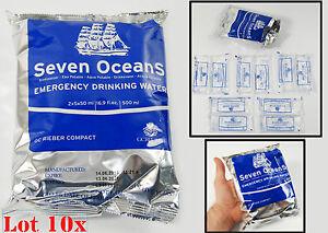 10x 500ml EMERGENCY WATER SURVIVAL SEVEN OCEANS NORWAY MRE FOOD RATION MEAL SOS - <span itemprop='availableAtOrFrom'>Opole, Polska</span> - 10x 500ml EMERGENCY WATER SURVIVAL SEVEN OCEANS NORWAY MRE FOOD RATION MEAL SOS - Opole, Polska
