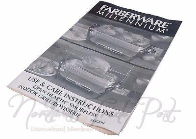 Farberware Instruction Manual for Model FSR200 Open Hearth Rotisserie - Manual Rotisserie