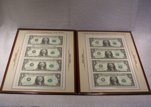 U.S. Uncut One Dollar Currency Block & Star Notes Folio - Postal Commemorative