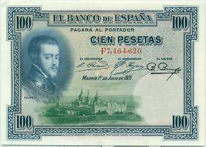 ESPANA-100-PESETAS-1925-BILLETE-DE-BANCO-Calidad-SUP