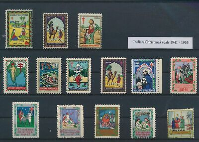 LO15312 India 1941 seal stamps christmas holidays fine lot MNH