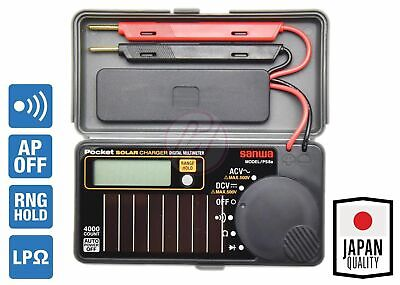 Sanwa Ps8a Solar Power Rechargeable Dmm Pocket Size Mini Digital Lcd Multimeter