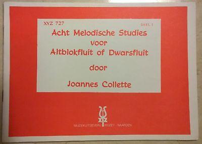 Acht Melodische Studies voor Altblokfluit of Dwarsfluit - Deel 1 / Flûte à bec
