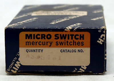 Micro Switch Pn As454a1 Mercury Switch - New In Box