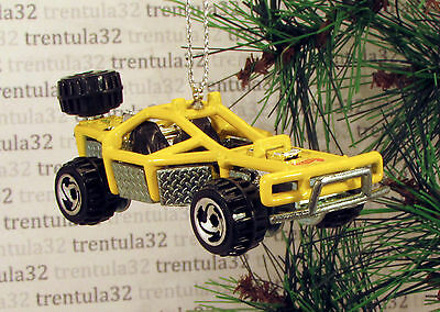 OFF-ROAD DUNE BUGGY YELLOW BLACK CHRISTMAS TREE ORNAMENT XMAS