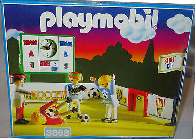 PLAYMOBIL STREET CUP ARENA SET 3868 FOOTBALL WORLD CUP COMPLETE