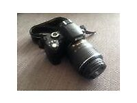 Nikon D60 camera with lens, battery and charger