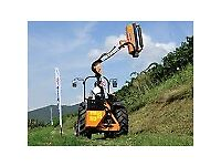 Tractor-mounted hydraulic hedge cutter hedge trimmer with brush cutter or cutterbar AIRONE-100