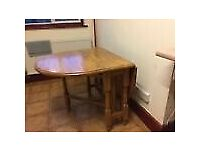 Heavy Duty Foldable Pine Kitchen Table TO GO