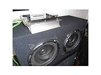 Kenwood subwoofer/amplifier/sony stereo..