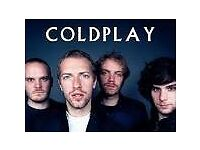 2 x Coldplay Tickets - Cardiff - General Admission/Standing