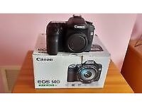 Canon 50D with accessories