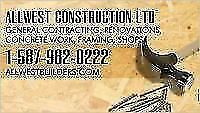 WE DO WE DO ALL GENERAL CONTRACTING, CONCRETE WORK, FRAMING CREW