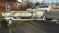 14'aluminum boat deep and wide