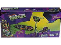 Teenage Mutant Ninja Turtles 3 Wheel Toddlers Scooter 2+ years